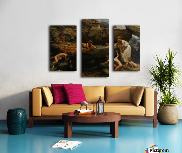 The wonders of of the deep Canvas print