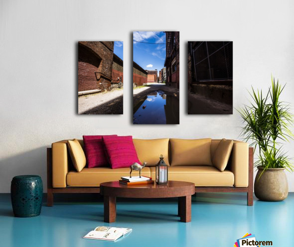Alley Reflections Canvas print