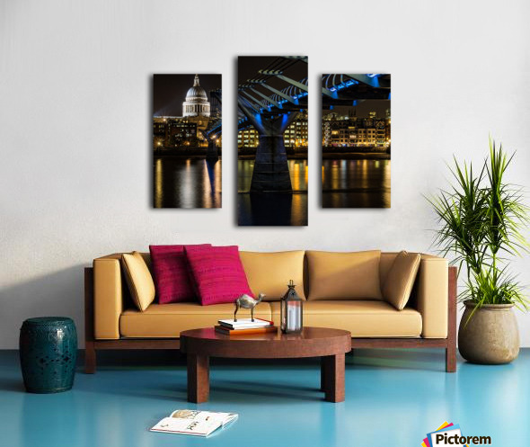 Millenium Bridge, London Canvas print