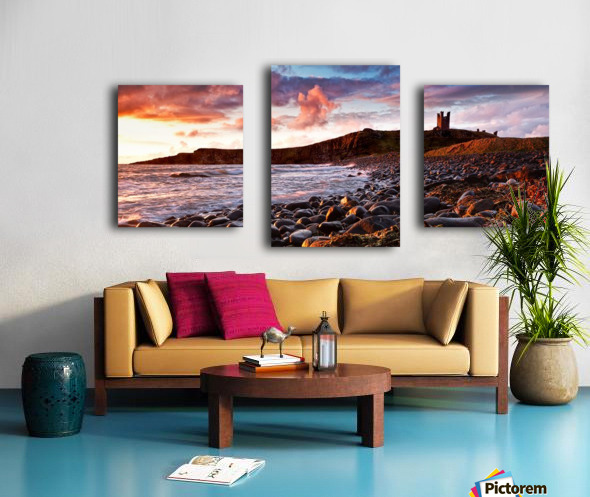 Dunstanburgh Castle, Northumberland, UK Canvas print