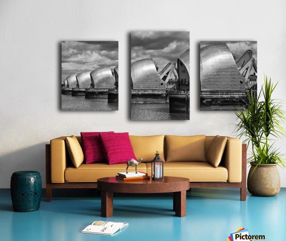 Thames Barrier, London, UK Canvas print