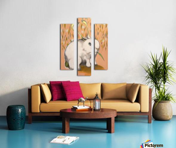 Bunny Alien Canvas print