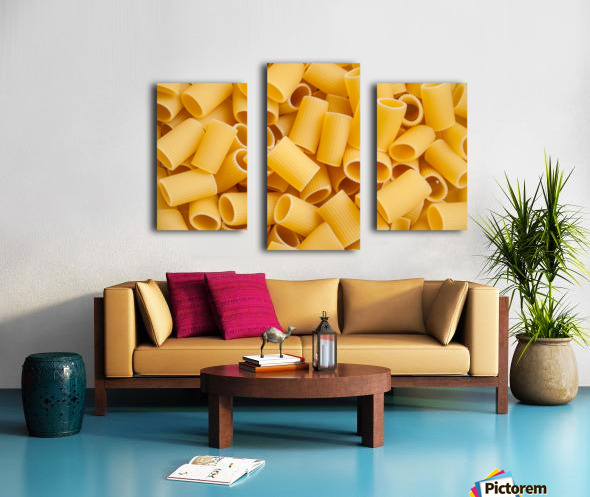 Dry pasta background  Canvas print