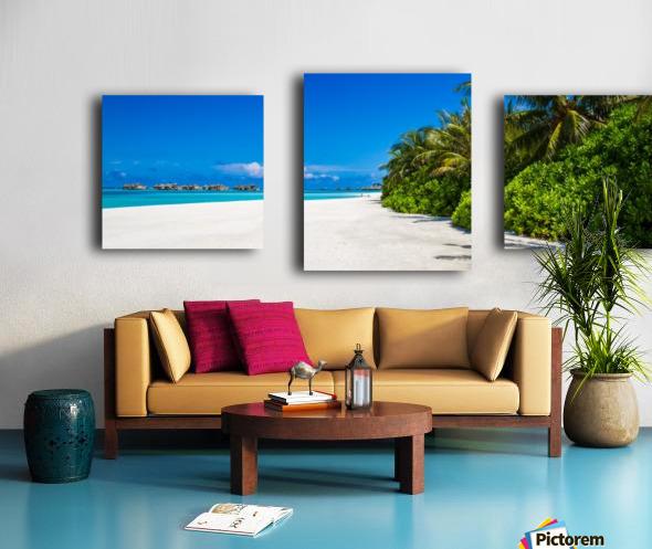 Amazing beach in Maldives, summer travel Canvas print