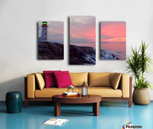 Peggys Cove Winter Sunset Canvas print