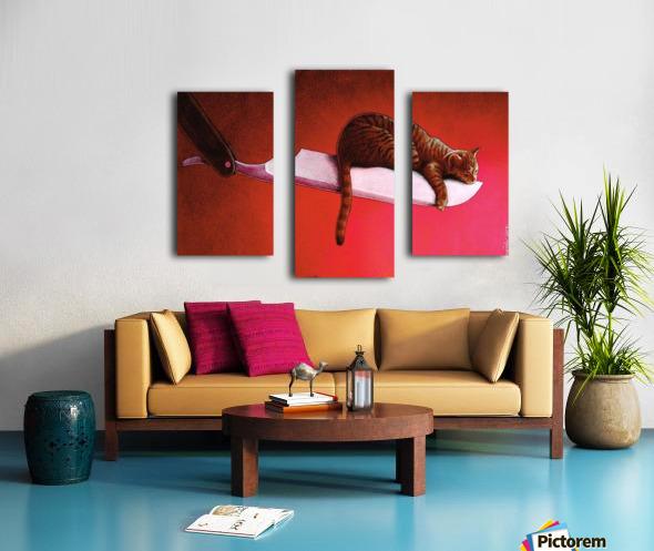 Razor  Cat Canvas print