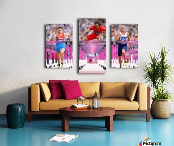 Athletics_58 Canvas print