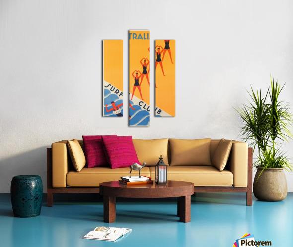 Australia Surf Club poster Canvas print
