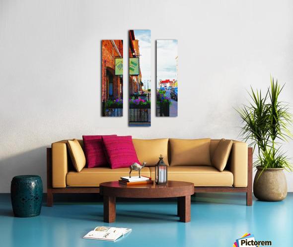 Downtown Kankakee Cafe Canvas print