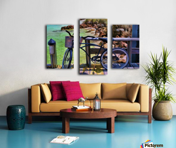 beach  bike  Canvas print