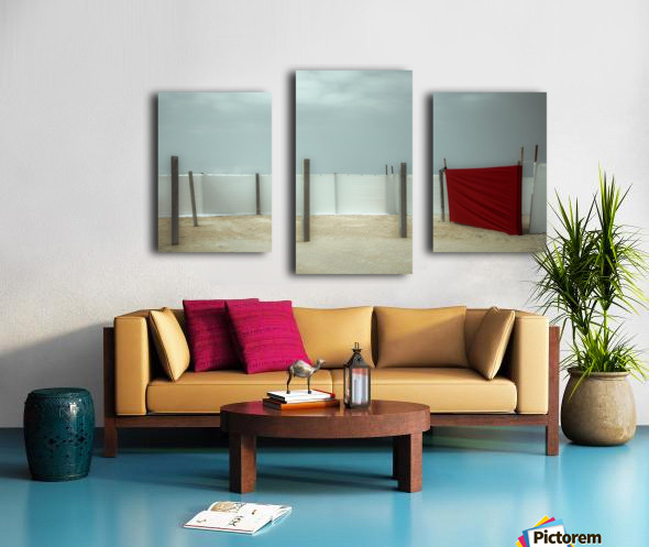 Red canvas Canvas print