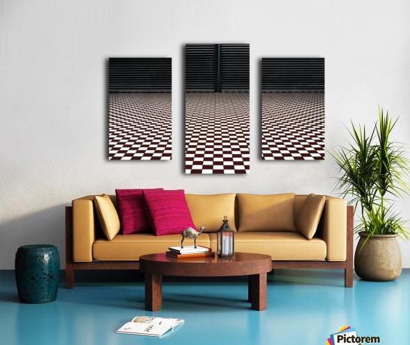the hypnotic floor Canvas print