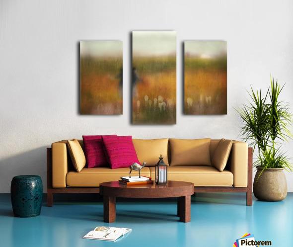 A Girl and Bear grass Canvas print