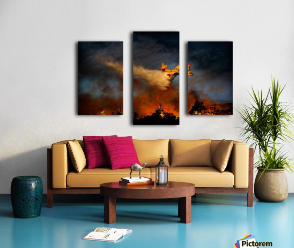 Wall of fire Canvas print