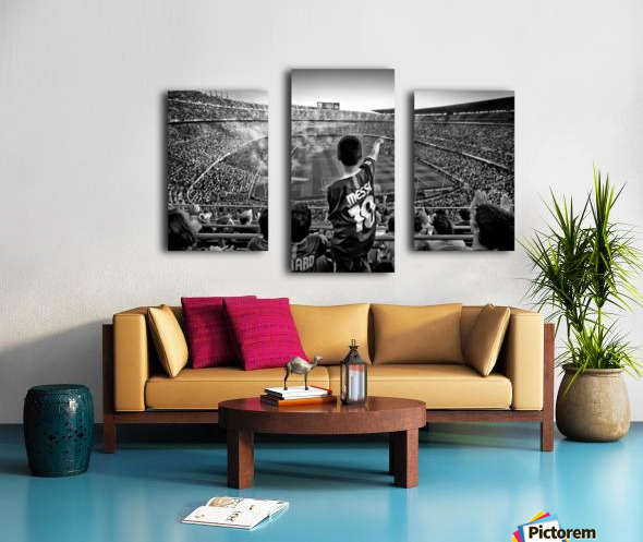 Cathedral of Football Canvas print