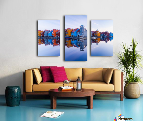 Colored homes Canvas print