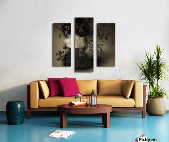 Night scented girl Canvas print