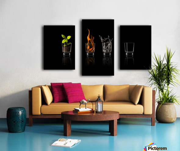 Elements... Canvas print
