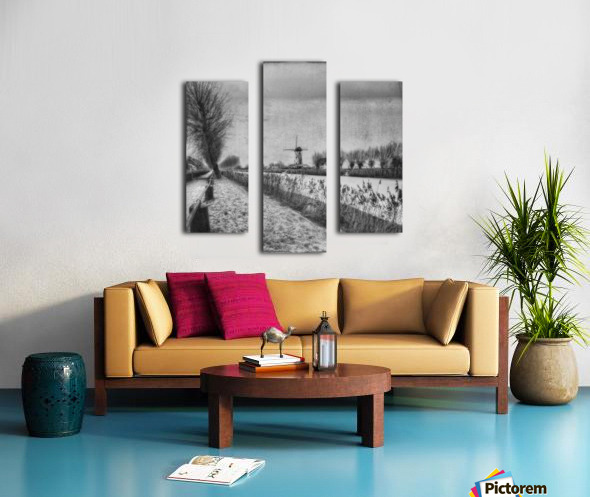 My beloved flat country: Damme Canvas print