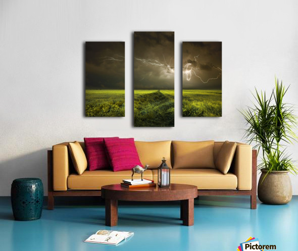 Electrically in Summer Canvas print
