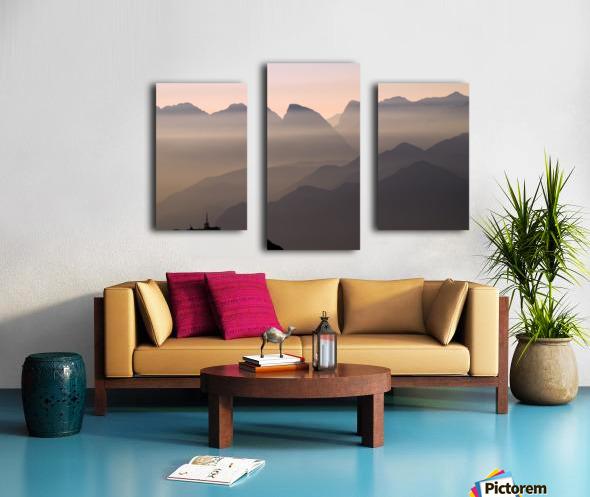 Alpine Sunset Impression sur toile
