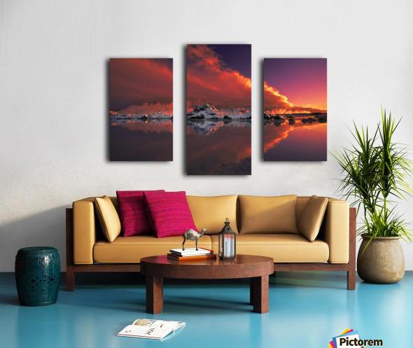 Ice & Fire Canvas print