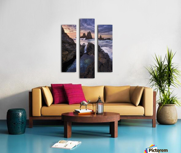 Meeting of Waters Canvas print