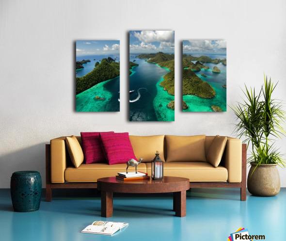 Green paradise Canvas print