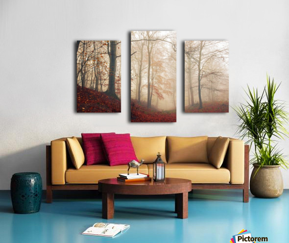 Waiting for the deer. Canvas print