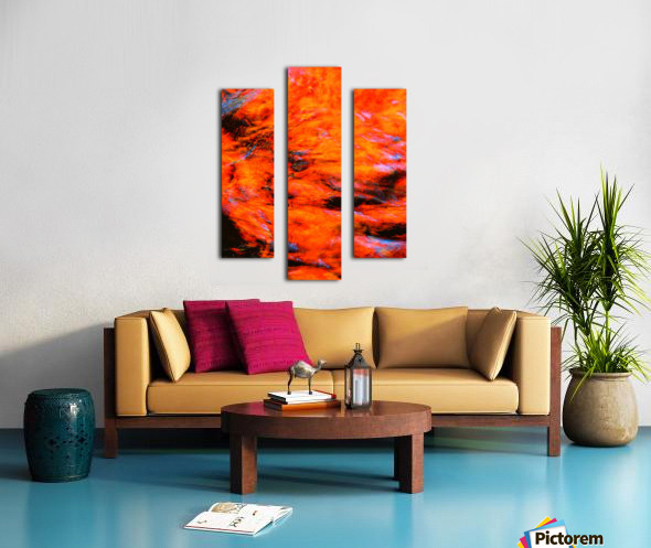 The Flock Orange Canvas print