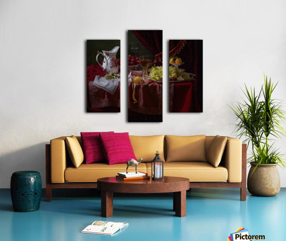 Still life in the Dutch style with a jug Canvas print