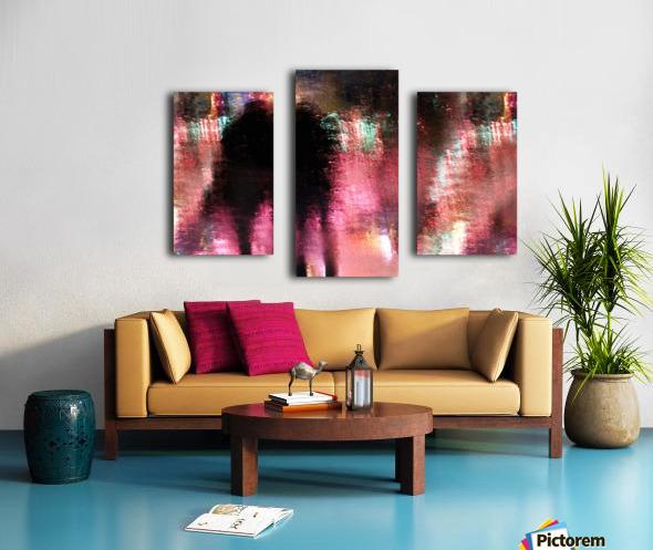Rain above the funfair Canvas print