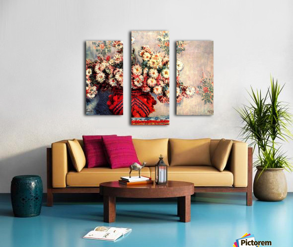 still life chrysanthemums Canvas print