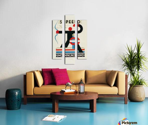London Speed Underground poster Canvas print