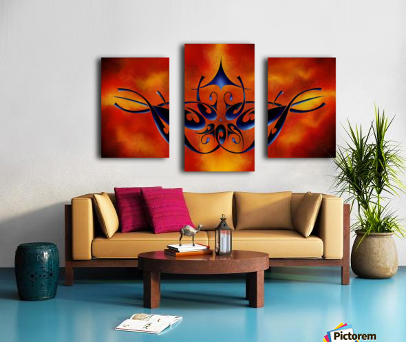 Tattoomissia V1 - firebird Canvas print