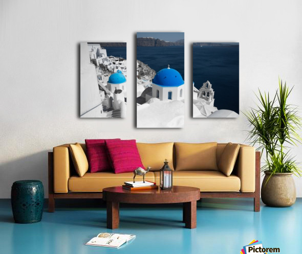 Blue Church Canvas print