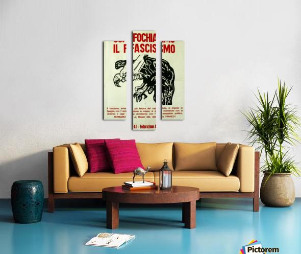 Suffocate fascism Canvas print