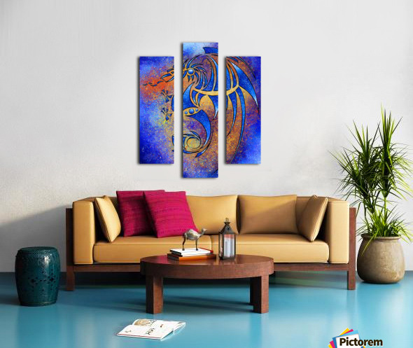 Dragissous V1 - blue dragon Canvas print