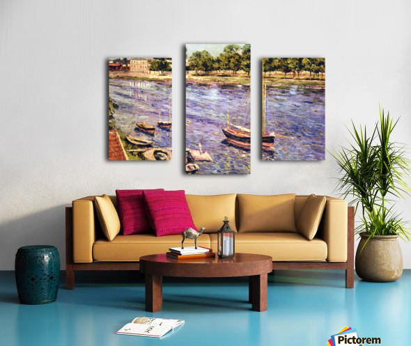 The Marne by Caillebotte Canvas print