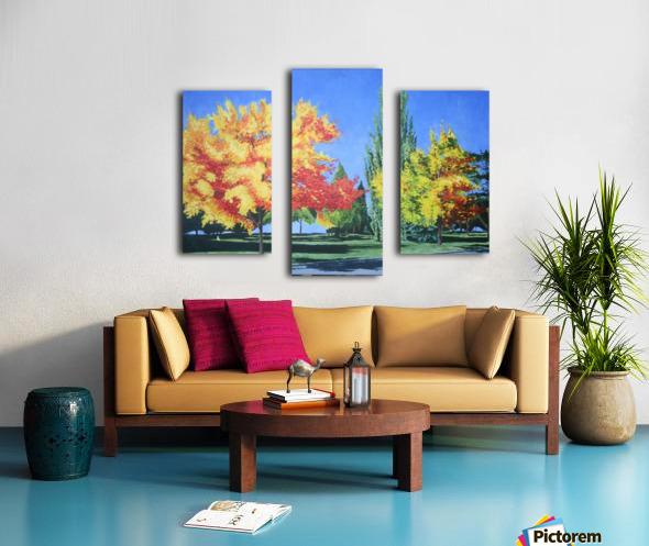 College Trees Canvas print