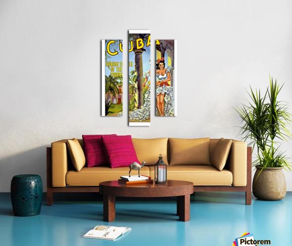Cuba Holiday Isle of the Tropics poster Canvas print