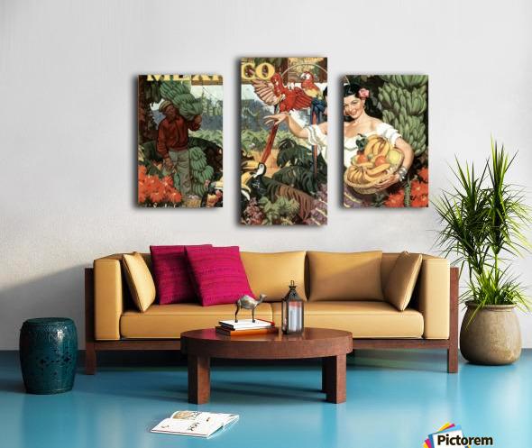 Mexico Land of Tropical Splendor Canvas print