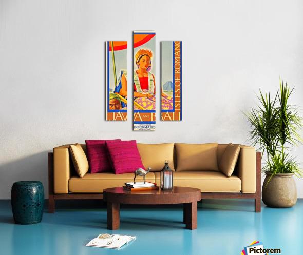 Java and Bali travel poster Canvas print