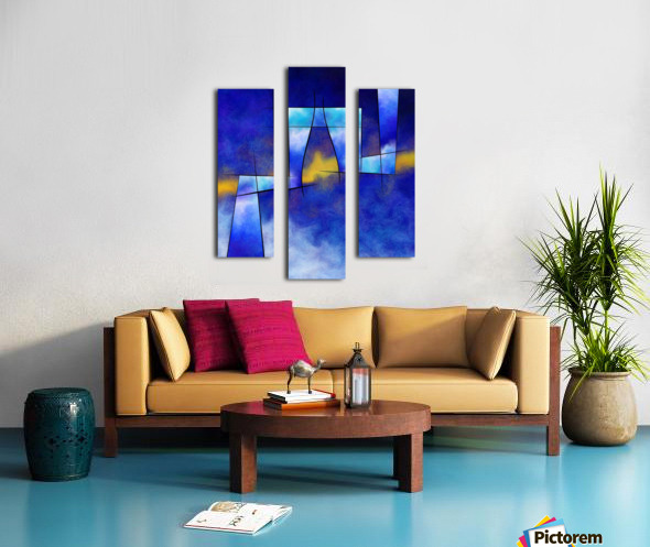Kefharia V1 - cubic vision Canvas print