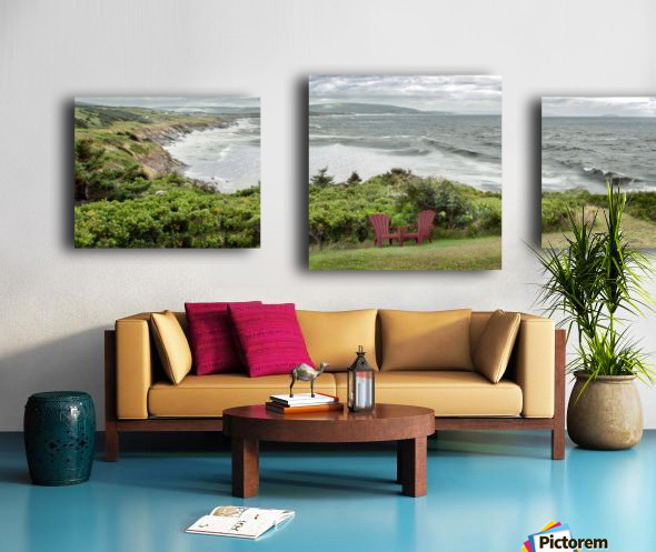 Chilling at Cap Lemoine Canvas print