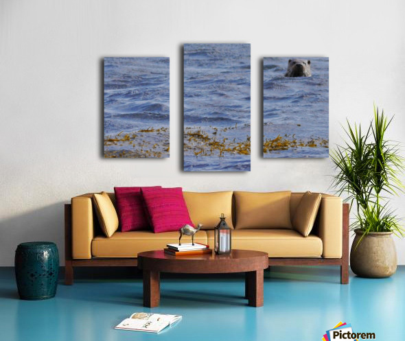 Watching Otter Canvas print