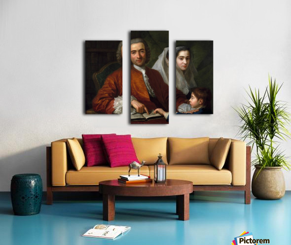 Dr Savatore Bernard with his wife and son Canvas print