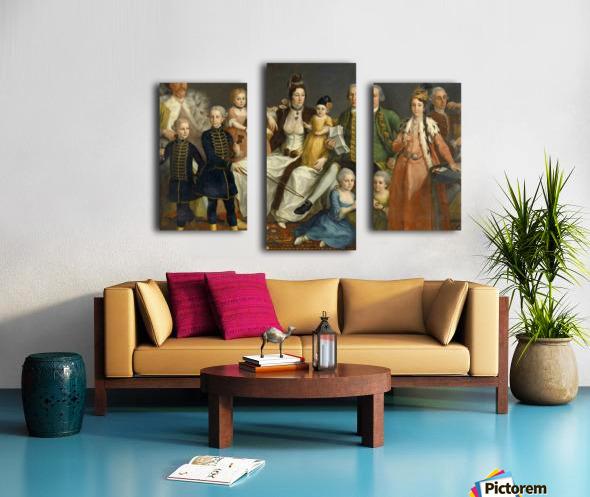 David George van Lennep and Family Canvas print