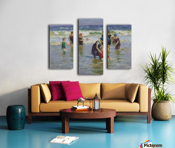 People enjoying the sea Canvas print