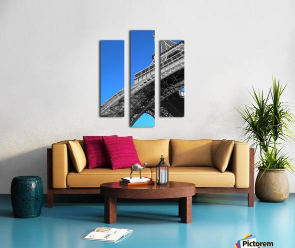 silver Eiffel tower Paris Canvas print